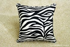 Pillow Pillow Cover Cushion Cover 16x16 20x20 Zebra by KoreaBacol