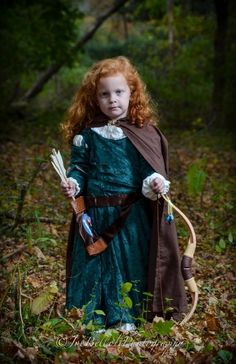 Danielle: This was my first seeing project. I made my daughter (who will be 4 in December) the dress Merida wore in the movie Brave. My husband is an amazing photographer...