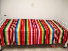 Mexican blankets. We had a bed that had Mexican Blankets in the Beach House.