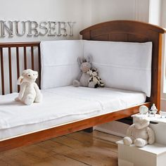 White Waffle Cot Or Cot Bed Bumper, Bumpers, Nursery