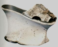 White Leather Chopines c. 1600 Bally Shoe Museum, Schonenwerd, Switzerland