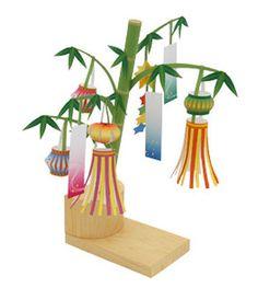 tanabata model | star festival model making | japanese themed paper crafts | japanese themed model making for kids