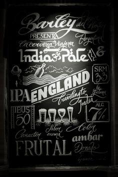 chalk lettering / Tizanding at Barley Brewery by Panco Sassano