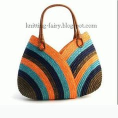 Crochet Purses Design crochet bag - only a picture, saving for inspiration Crochet Shell Stitch, Crochet Tote, Crochet Handbags, Crochet Purses, Knit Or Crochet, Crochet Stitches, Free Crochet, Diy Sac, Craft Bags