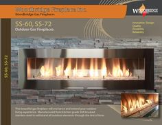 """SS-60 and SS-72 are larger versions of our outdoor linear fireplaces with viewing area 60"""" and 72"""" correspondingly to fit up scaled patios. They are available for natural gas or LP. The burner and enclosure are made of brushed 304 stainless steel to withstand weather elements and please the look. All SS models feature electronic ignition system and SIT valve. This fireplace will make a focal point to any patio! Please visit our web-site for more details. We ship all over North America! Fireplace Showroom, Custom Fireplace, Linear Fireplace, Fireplace Inserts, Biofuel Fireplace, Gas Fireplaces, Ignition System, Fireplace Accessories, Electric Fireplace"""