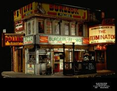 MINIATURE STREETSCAPE:    The Weathering Magazine added 5 new photos. October 2 at 5:21am ·  I thought that we would continue our look at cityscape and facade miniature modeling. These wonderful works are from one of my favorite vignette artists, Allan Wolfsen, who does these incredible pieces showing NYC streets and buildings (and subways). Every detail captured.  https://www.facebook.com/theweatheringmagazine.oficial