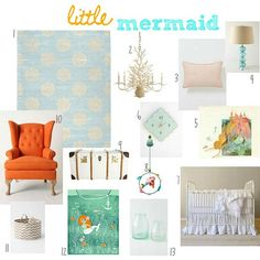 mySEAponies :: mermaid nursery #2  #projectnursery #franklinandben #nursery