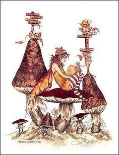 Amy Brown Book Worm II Fairy Print