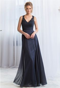 Charcoal Grey Vintage Lace V Neck A Line Floor Length Simple Long Junior Bridesmaids Dress Chiffon