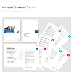 Brochure advertising the International Baccalaureate (IB) to prospective students LLS IB Brochure International Baccalaureate, Publication Design, Editorial Design, Spreads, Layout Design, Infographics, Business Cards, Stationary, Identity