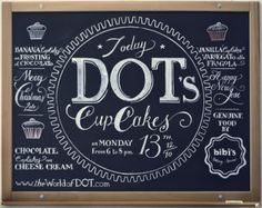 Awesome chalkboard lettering/design. Via The World of Dot.