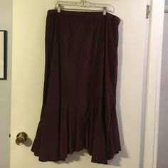 J. Jill deep purple long skirt 100% cotton. Mini wale corduroy. Elastic waist. Side zip closure. J. Jill Skirts Maxi