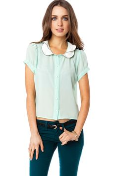 ShopSosie Style : Marnie Blouse in Mint