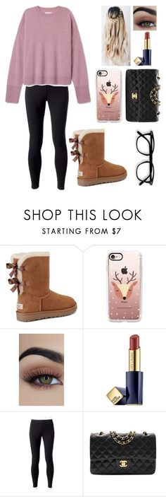 """""""11-29-16"""" by blessed-with-beauty-and-rage ❤ liked on Polyvore featuring UGG, Casetify, Estée Lauder, Jockey and Chanel"""