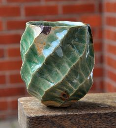 carved yunomi by fredzepp ( mark ), via Flickr