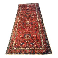 "Image of 70 year Old Vintage Fine Persian Lilihan Runner - 3'4""x9'4"""