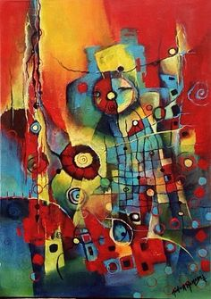 Abstractos. Título, Subliminal. Tecnica Mixta. BY Mónica Renedo. Art