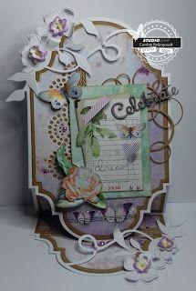 Studio Light collectie So Spring, als basis is voor deze kaart het stencil So Spring nr 80 gebruikt