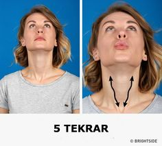 Eating right and being physically active are a few examples of good habits that can help your body stay fit and young. But this is also true for our facial muscles which tend to lose their firmness as we age. With that in mind, we at Bright Side have comp Double Chin Exercises, Neck Exercises, Facial Exercises, Workout Exercises, Fitness Workouts, Fitness Tips, Health Fitness, Elite Fitness, Facial Yoga