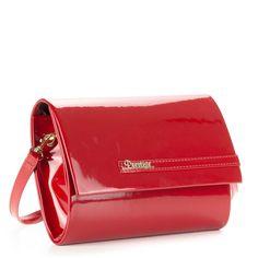 c654d2cbc0cf Piros lakk női alkalmi táska hosszú vállpánttal. – ChiX Női Cipő- és Táska  webáruház #bags #fashionbags