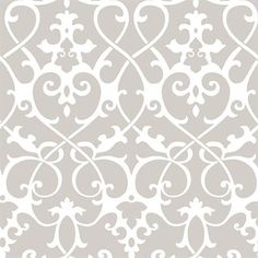 Taupe Axiom Ironwork Wallpaper | Strippable | Washable | Unpasted