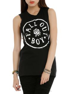 Fall Out Boy Circle Logo Girls Muscle Top | Hot Topic