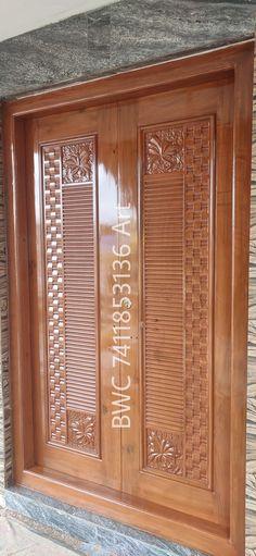 Wooden Double Doors, Wooden Front Door Design, Modern Wooden Doors, Double Door Design, Wooden Front Doors, Modern Door, Wood Doors, Modern Entrance Door, Main Entrance Door Design