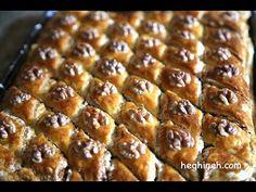 Easy Baklava Recipe – Armenian Cuisine – Heghineh Cooking Show Arabic Dessert, Arabic Sweets, Arabic Food, Indian Dessert Recipes, Desert Recipes, Baklava Recipe, Puff Pastry Dough, Armenian Recipes, Spiced Nuts