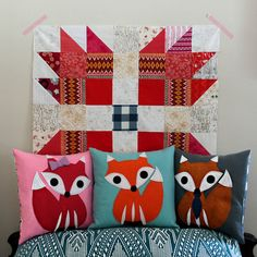 Maureen Cracknell Handmade: Fox Pillow Making : : Fox Pillow, Best Pillow, Applique Pillows, Fox Decor, Little Fox, Three Little, Bear Paws, Diy Pillows, Pin Cushions