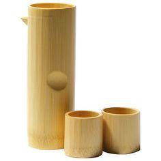 テーブルを粋に演出してくれる白竹。【酒器セット】