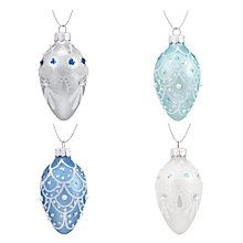 Buy John Lewis Winter Palace Egg Baubles, Box of 4 Online at johnlewis.com