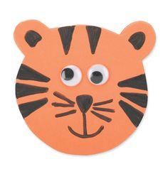 Cute Tiger Pin art for toddler.