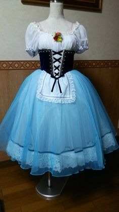 Exclusive new creation 2016/17. This exquisite peasant costume has been created for ballets like Flower Festival in Genzano, Giselle, Napoli, Cooppelia, La Vivandiere etc. This Romantic tutu features