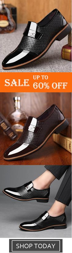 buy popular 6c750 78fde Men s Fashion British Style Casual Slip on Shoes Pointed Toe Business  Formal Shoes