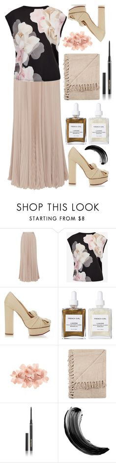 """111"" by erohina-d ❤ liked on Polyvore featuring Carolina Herrera, Ted Baker, Charlotte Olympia, French Girl, Tasha and Hourglass Cosmetics"