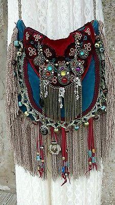 Handmade Velvet Fringe Bag Gypsy Hippie Boho Hobo Ibiza Festival Purse tmyers   Clothing, Shoes & Accessories, Women's Handbags & Bags, Handbags & Purses   eBay!