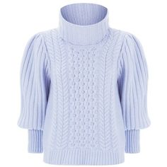 Temperley London Shade Knit Jumper (12.933.365 IDR) ❤ liked on Polyvore featuring tops, sweaters, blue, crewneck, knitwear, crewneck sweaters, knit crew neck sweater, knit jumper, knit sweater and blue knit sweater