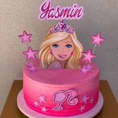 Barbie Theme Party, Barbie Birthday Cake, Bolo Barbie, Barbie Cake, 6th Birthday Parties, 4th Birthday, Cake Toppers, Valentine Cake, Birthday Backdrop