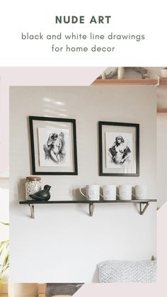 Elevate your home decor with this elegant nude art drawing. Printed with the best quality japanese inks on cotton paper, its texture is just as an original watercolor painting. Perfect for adding personality to any space of your wall decor, with a minimal yet eye-catching artwork.#nudeart #inkart #lineart #blackandwhite #bodypositivity Boho Bedroom Decor, Boho Decor, Watercolor And Ink, Watercolor Painting, Black And White Lines, Feminist Art, Ink Art, Personality, Minimal