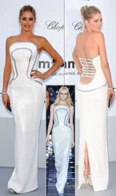 Doutzen Kroes in Versace white dress amfAR Cannes 2012   Photo Gallery — StyleFrizz