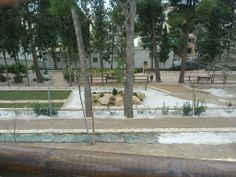 Vista del jardín de rocalla desde el nuevo mirador.