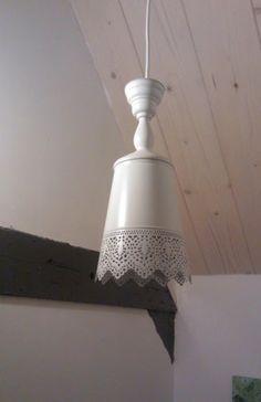 ikea kandelaar en plantenpot worden hanglamp!
