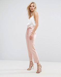 ASOS | Pink pants. Dusty pink. Score a wardrobe win no matter the dress code with our ASOS Collection own-label collection. Affiliate link.
