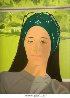Ada With Glasses by Alex Katz 1977