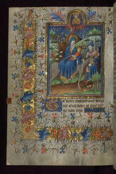 Más tamaños   Amherst Hours, The Flight into Egypt, Walters Manuscript W.167, fol. 60v   Flickr: ¡Intercambio de fotos!