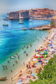 Dubrovnik´s beach, Croatia
