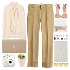 """Cream"" by igedesubawa ❤ liked on Polyvore featuring Dsquared2, Chloé, Yves Saint Laurent, Stuart Weitzman, NARS Cosmetics, Smythson, Fujifilm, ASOS, contestentry and polyvorecontest"