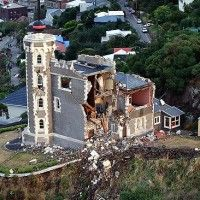 The Timeball Station is seen to be badly damaged, a day after the earthquake in the township of Lyttelton near Christchurch, New Zealand. New Zealand Cities, New Zealand Houses, New Zealand Earthquake, Christchurch New Zealand, 2nd City, Kiwiana, South Island
