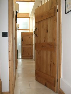 Barn Doors, Solid Oak Ledge Barn Doors.   #BarnDoors #LedgedBarnDoor  http://www.ukoakdoors.co.uk/internal-doors/internal-doors-by-style/barn-doors/barn-solid-oak-door.html
