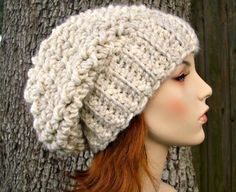 Instant+Download+Crochet+Pattern++Slouchy+Hat+Crochet+by+pixiebell,+$5.00